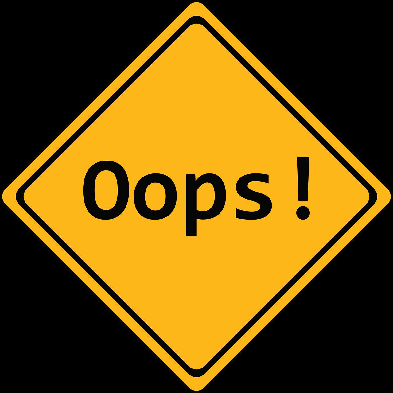 illustration d'une erreur