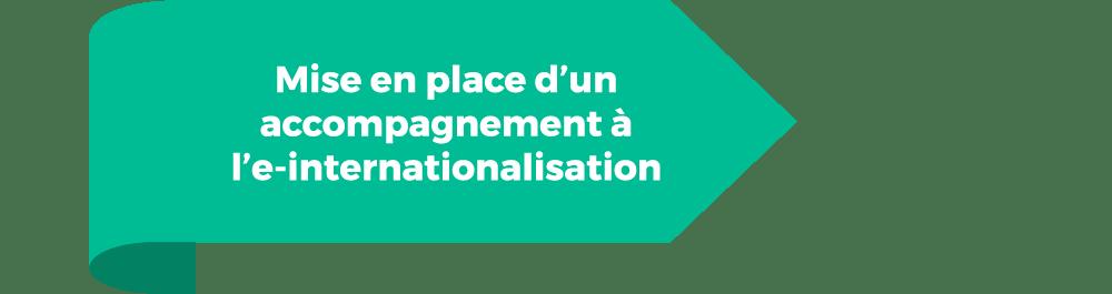 Mise en place d'un accompagnement à l'e-internationalisation