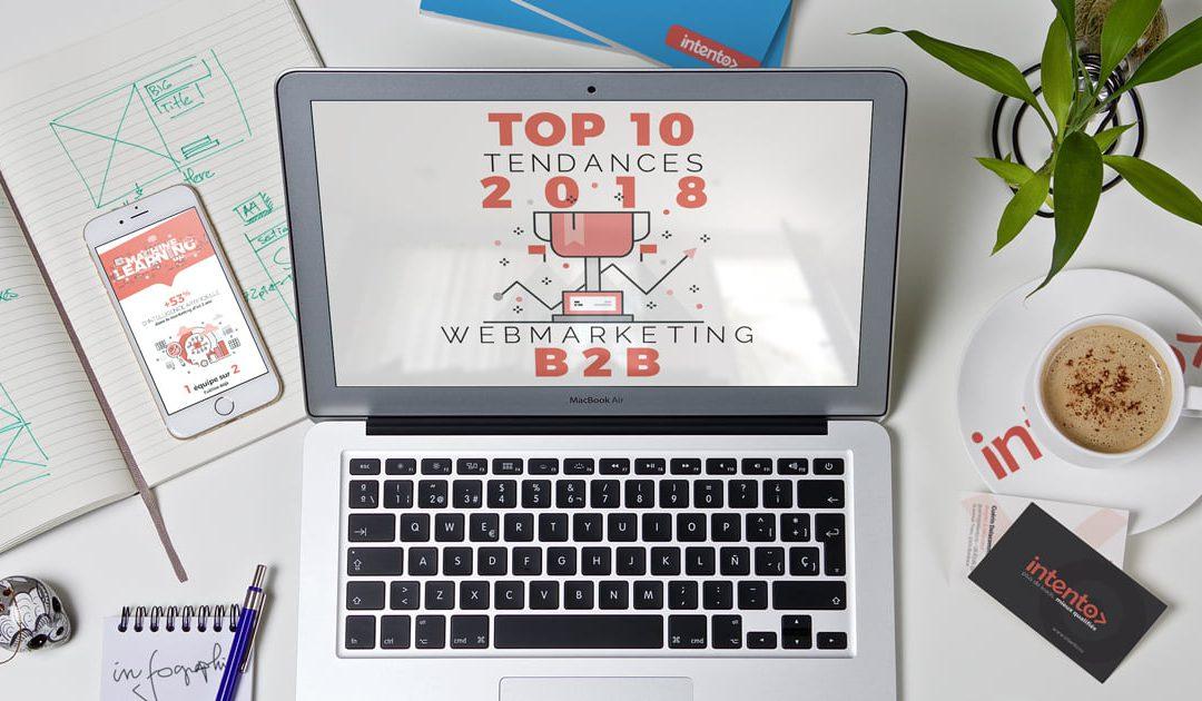 Infographie : 10 Tendances 2018 en webmarketing B2B