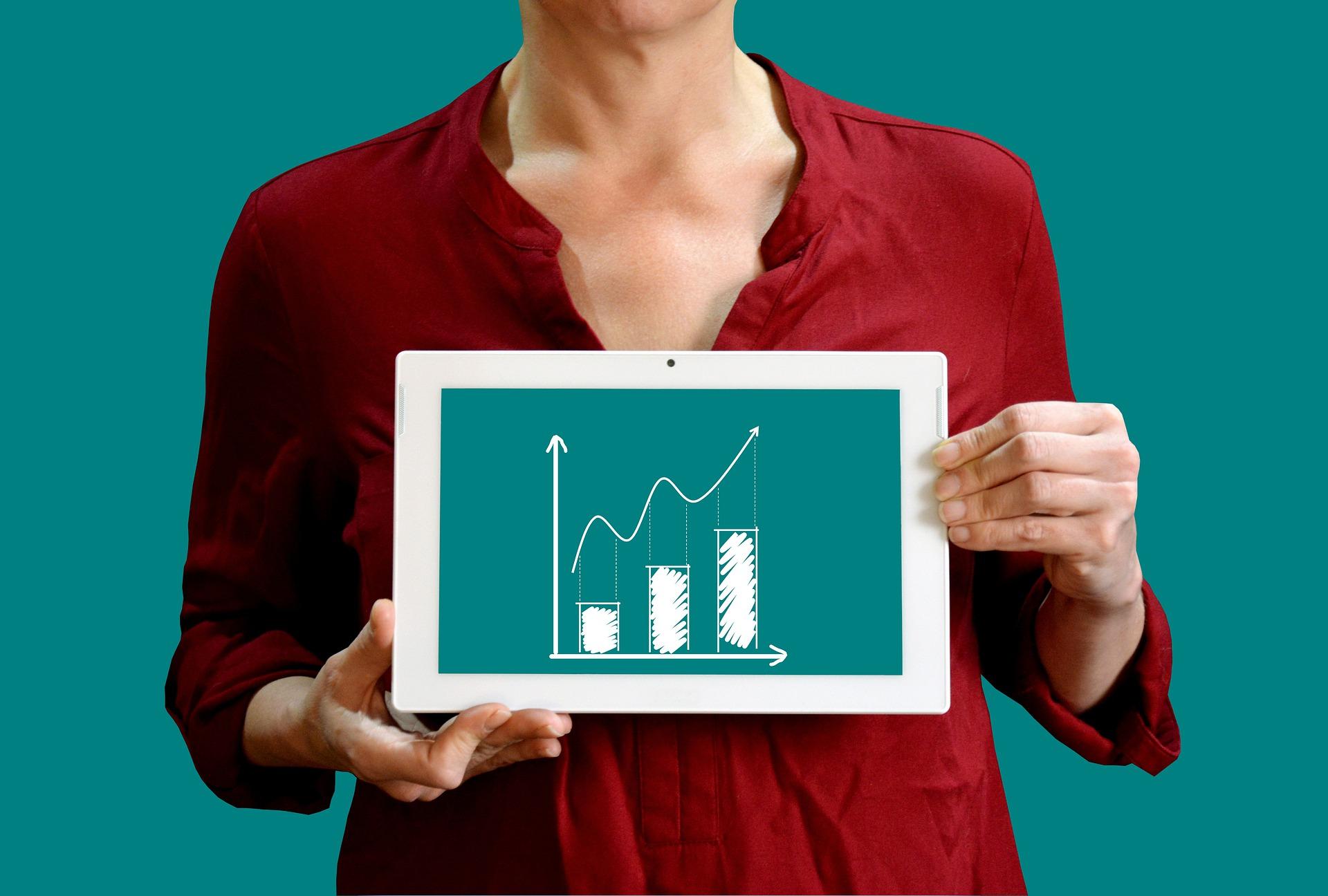 graphique illustrant une augmentation des ventes