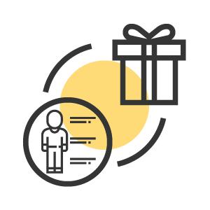 offrir des cadeaux et récolter des données