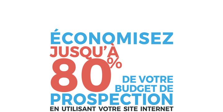 économisez jusqu'à 80% de votre budget de prospection en utilisant votre site internet